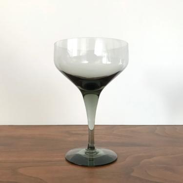 """Orrefors Rhapsody Smoke Crystal Champagne Coupe Glass (5 1/4"""") by Sven Palmqvist - Multiple Available by TheThriftyScout"""