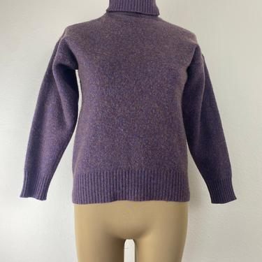vintage plum worsted wool turtleneck size small by miragevintageseattle