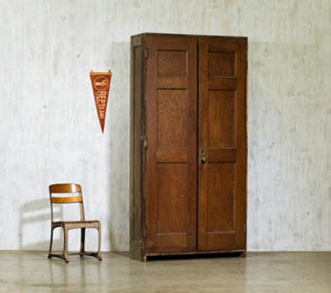 Double Schoolhouse Cabinet