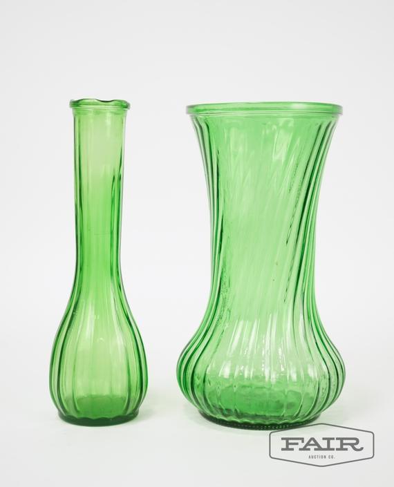 Lot of Hoosier Green Glass