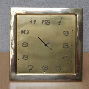 Ateliers Juvenia Brass Square Mantel Clock with Updated Movement & Hands by ilikemikes