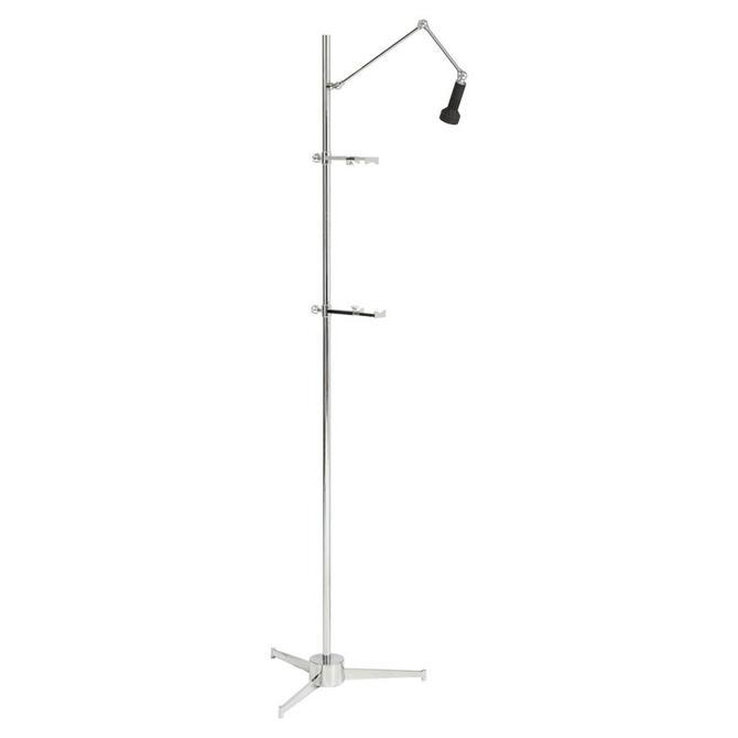 Chrome Easel Floor Lamp in the Style of Arredoluce, Italy, 2016