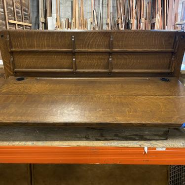 Antique Quartersawn Oak Bank Lobby Desk