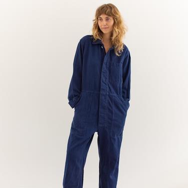 Vintage Overdye True Blue Coverall   Unisex Jumpsuit   Flight Suit Studio Ceramic Painter Onesie   Boilersuit   M L by RAWSONSTUDIO