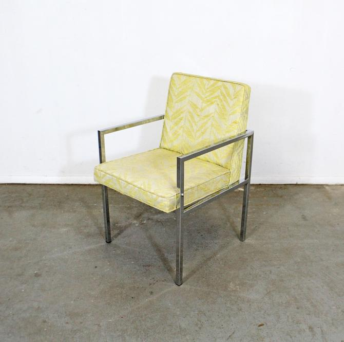 Milo Baughman Lounge Chair Mid-Century Modern Vintage Chrome Accent Arm Chair/Dining Chair by AnnexMarketplace