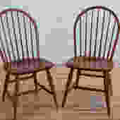 Set of 4 Cherry Windsor Side Chairs