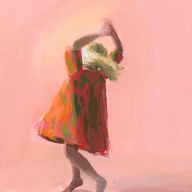 Spinning . giclee art print by ClareElsaesser