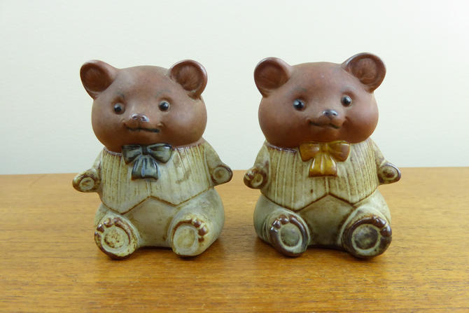 Vintage OCTCI Bear Shakers | Salt Pepper | Japan |  GORGE by TheFeatheredCurator