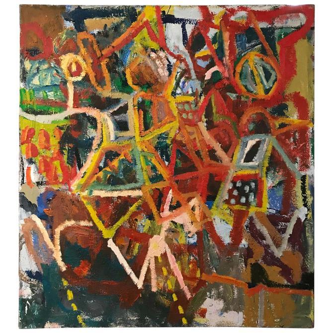 Abstract Expressionist Oil Painting Tony Csavas