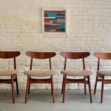 Iconic Mid Century Modern Danish Teak + Oak Hans Wegner CH-30 Dining Chairs, Set of Four by CIRCA60