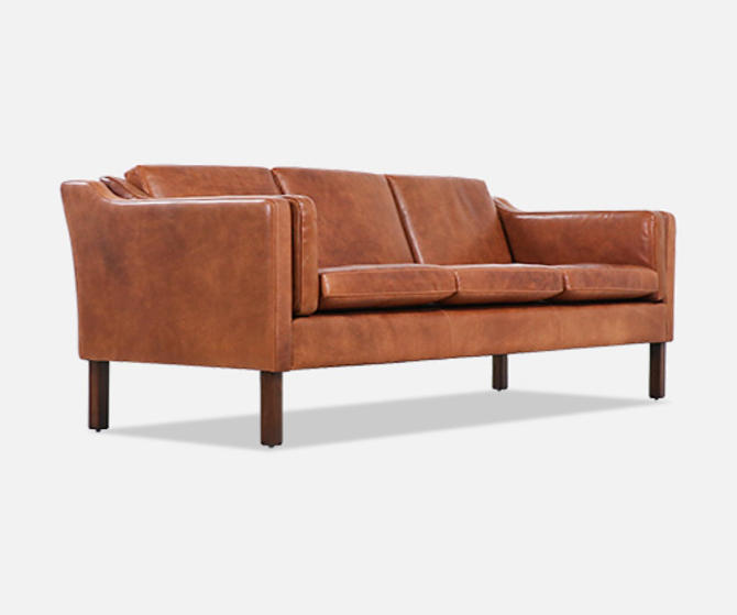 Børge Mogensen Model-2213 Cognac Leather Sofa for Fredericia Furniture