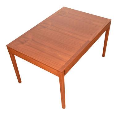 Compact Rectangular Danish Teak Dining \/ Work Table \/ Desk