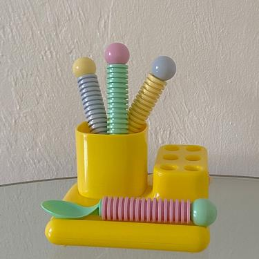 Bright Yellow Plastic Organizer