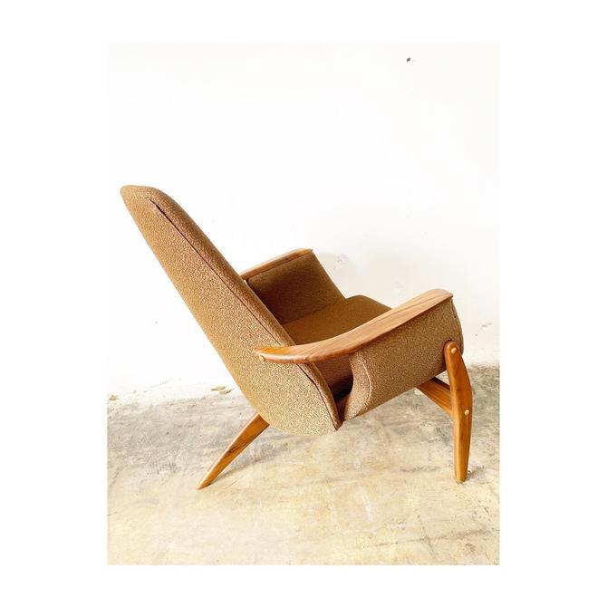 RARE Mid Century Luigi Tiengo for Cimon Lounge Tripod Chair by FlipAtik