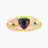 Purple Triangle Glass Brooch