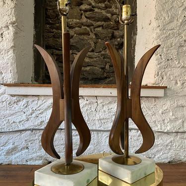 Mid century table lamp mid century modern table lamps a pair mid century lamp by VintaDelphia