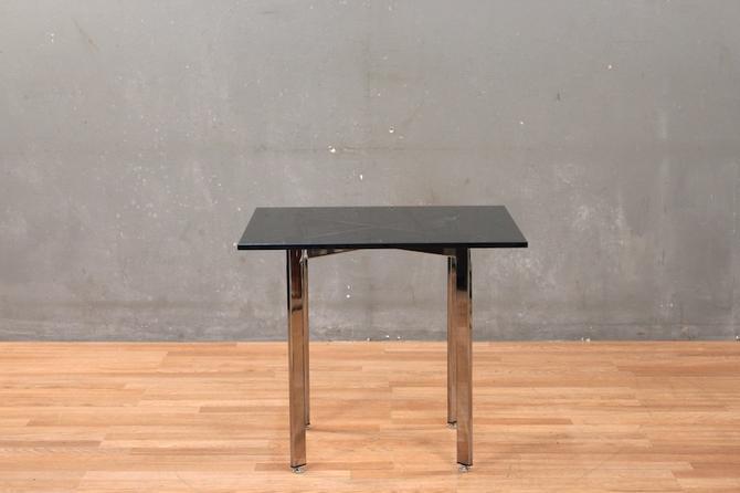 Smoked Glass & Chrome End Table
