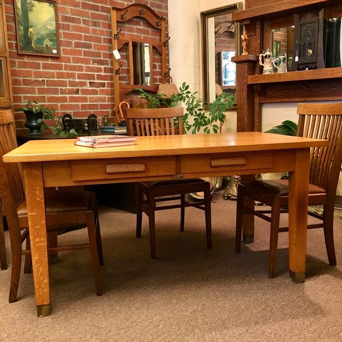 Circa 1910 Oak Conference Table