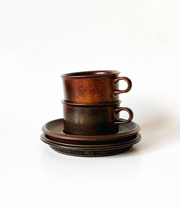 Vintage Arabia Ruska Cup and Saucer Set by SabineVintageHome