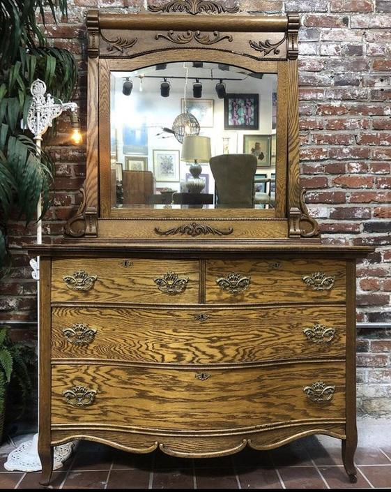 Ornate Oak Dresser
