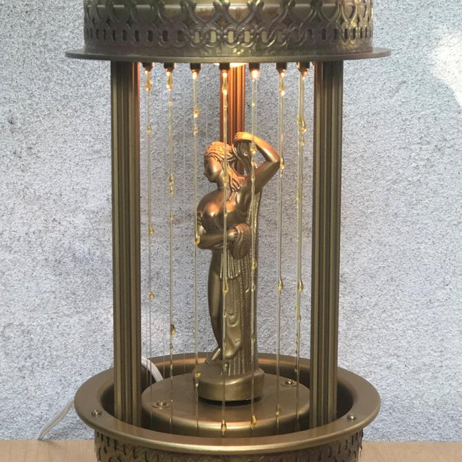Art Deco Gold Bathing Beauty Oil Lamp, Replica from the 1970s by ilikemikes