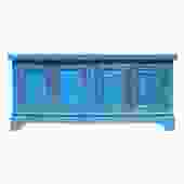 Chinese Distressed Bright Blue Finish High Credenza Console Buffet Table cs5141S