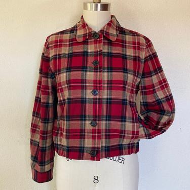 1990s Plaid Pendleton cropped jacket by VelvetGoldmineShop