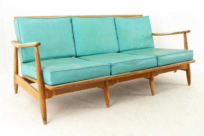 Kofod Larsen Style Mid Century Teal 3 Seater Sofa - mcm by ModernHill