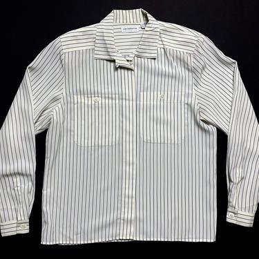 Vintage Women's LIZ CLAIBORNE Button-Up Pinstripe Shirt ~ size 4 / Small ~ Basic / Minimalist ~ Blouse ~ Loop Collar by SparrowsAndWolves