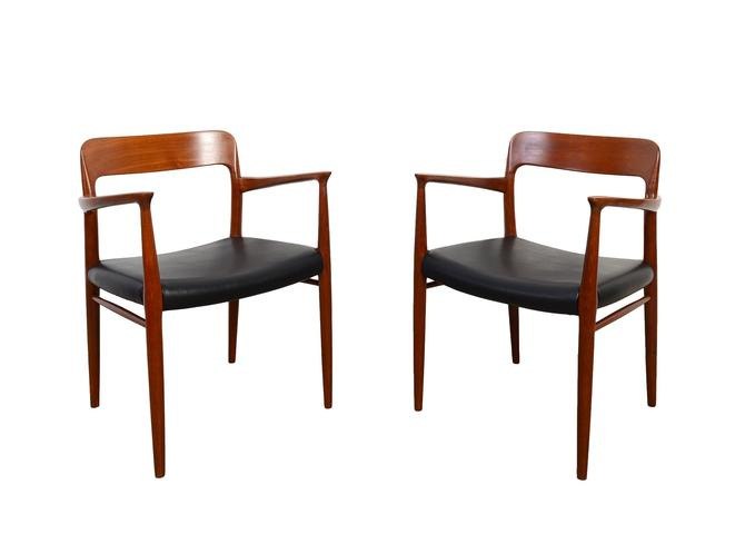 Moller Dining Chairs Denmark Model # 56 Teak Arm Chair Danish Modern by HearthsideHome