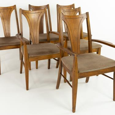 Kent Coffey Perspecta Mid Century Walnut Dining Chairs - Set of 6 - mcm by ModernHill