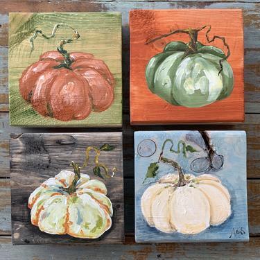 Colorful Pumpkin Original Art, multiple styles