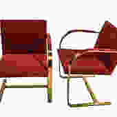 Mies van der Rohe Brno Chairs Knoll 1960s pair by Marykaysfurniture