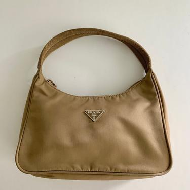 Classic beige nylon Prada mini bag-made in Italy by MartinMercantile