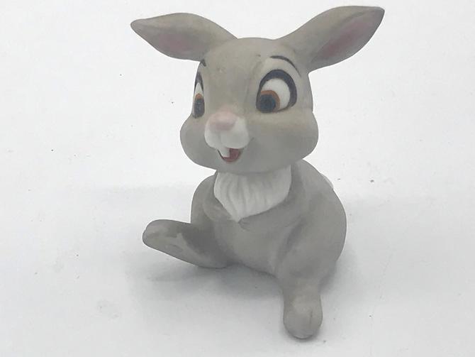 """Vintage Walt Disney Prod Thumper Marks Rosenfeld Ceramic Figurine Porcelain 3"""" by JoAnntiques"""