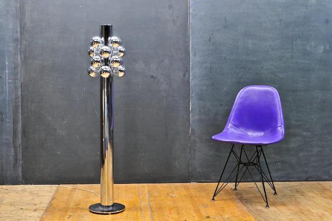 Cool Abba Baughman Chrome Racing Tree Floor Lamp Vintage Mid-Century Modern by BrainWashington
