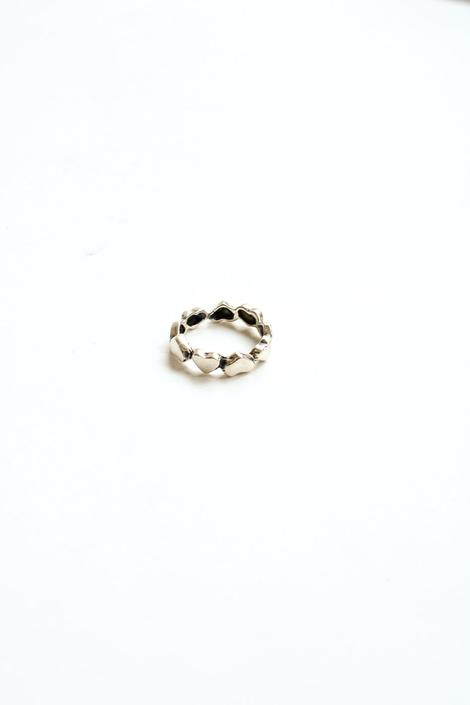 Sterling Silver Small Heart Band