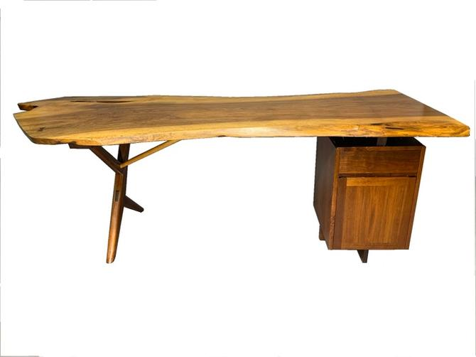 George Nakashima Large Conoid Writing Desk