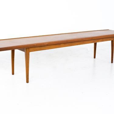 Kipp Stewart for Drexel Declaration Mid Century Long Walnut Coffee Table - mcm by ModernHill