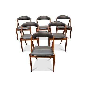 8 Kai Kristiansen Teak Model 31 Dining Chairs Original Danish Modern by LanobaDesign