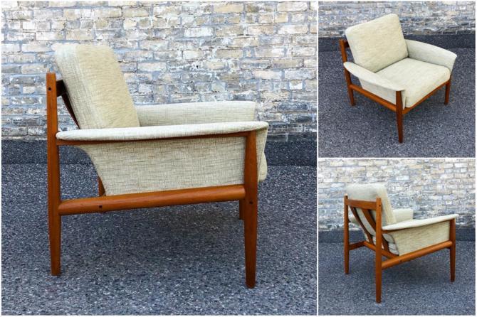 Teak Frame Chair By Grete Jalk For France & Son