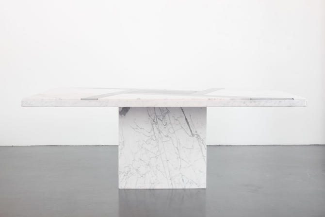 Inlaid Marble Dining Table by HomesteadSeattle