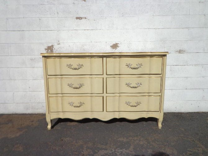 French Provincial Dresser Chest of Drawers Nursery Entry Table TV Console Furniture Bedroom Tv Stand Shabby Chic Buffet CUSTOM PAINT Avail by DejaVuDecors