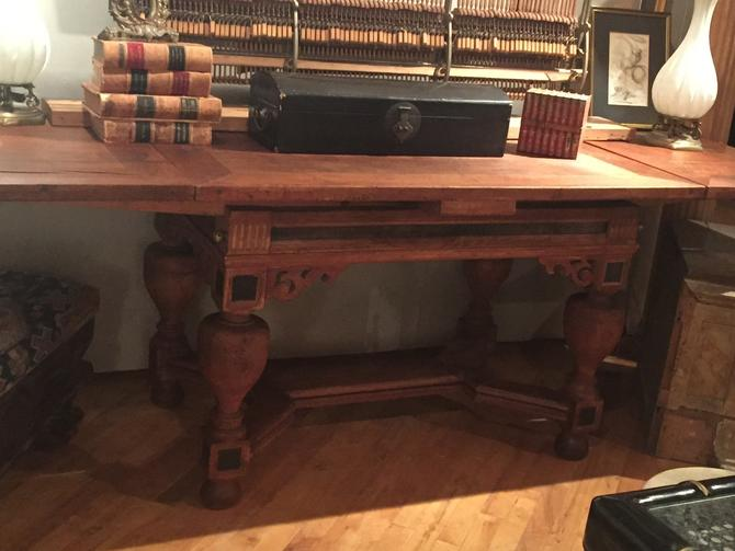 SOLD - Antique Eastern European extension table, Baroque style. c. 1830's.