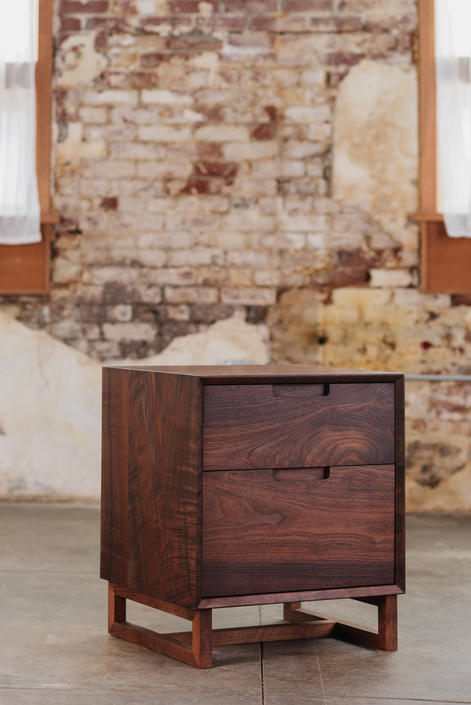 Modern 2 Drawer Nightstand by MakersWoodworks