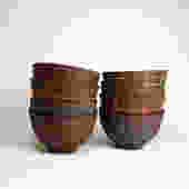 Dark Clay Pattern Ware Small Bowl