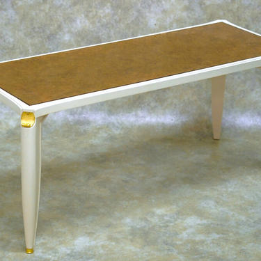 Maurice Jallot lacquer and verre eglomise coffee table (#1655)