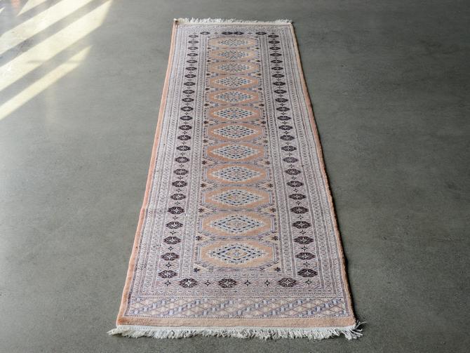 10.5ft Vintage Jaldar Persian Runner Rug Wool by MadsenModern