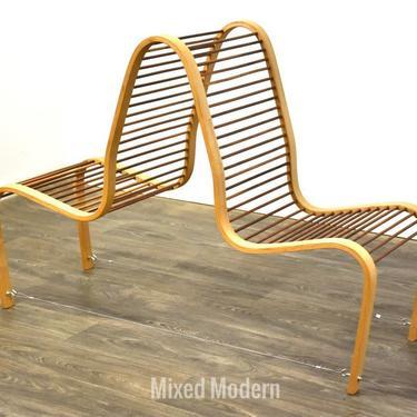 Bent Wood Tandem Chair Art by mixedmodern1