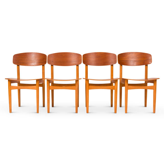 Model 122 Dining Chairs by Børge Mogensen for Søborg, 1950's by MCMSanFrancisco
